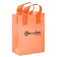 "Picture of Custom Foil Stamped Color Frosted Loop Bag - 8"" x 11"""