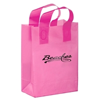 Branded Foil Stamped Color Frosted Loop Bag