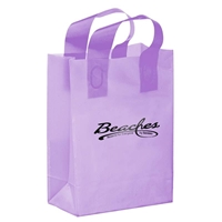 Promotional Foil Stamped Color Frosted Loop Bag