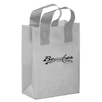 Promotional Foil Stamped Color Frosted Loop Bag