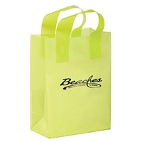 Promo Foil Stamped Color Frosted Loop Bag