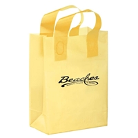 Foil Stamped Color Frosted Loop Bag with logo