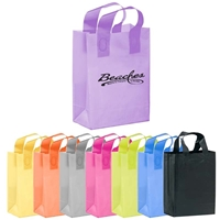 Custom printed Foil Stamped Color Frosted Loop Bag