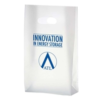 "Custom Clear Frosted Die Cut Bag - 7"" x 12"" x 3.5"""