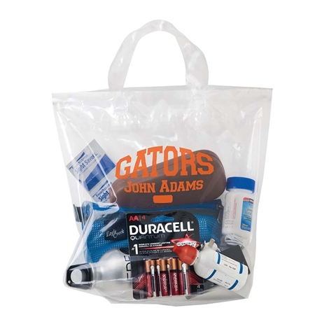 "Picture of Custom Clear Stadium Security Bag - 12"" X 12"""