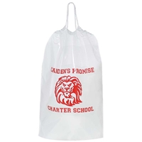 "Custom Medium Cotton Cord Drawstring Bag - 12"" X 16"""