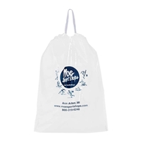 "Picture of Poly Draw-Tape Bag - 12"" W x 15"" H x 3"" D"