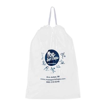 "Promotional Poly Draw-Tape Bag - 12"" W x 15"" H x 3"" D"