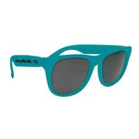 Customizable Solid Color Rubberized Sunglasses