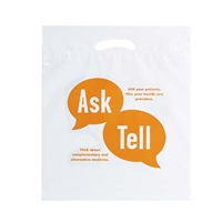 "Picture of Reusable Reinforced Die Cut Bag - 18"" W x 22"" H x 3"" D"
