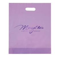 "Picture of Custom Foil Stamped Frosted Die Cut Bag - 12"" W x 15"" H x 3"" D"