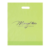 Green custom Stamped Frosted Bag