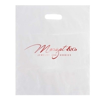 Stamped Frosted Bag  with logo