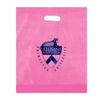 Promotional Foil Stamped Frosted Die Cut Bag