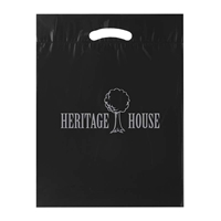 Picture of Custom Printed 12 x 15 x 3 Fold-Over Reinforced Die Cut Handle Bag