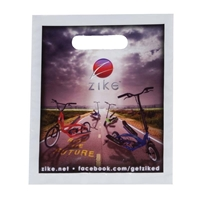 "Picture of Small Digitial Full Color Die Cut Bag - 7.5"" W x 9"" H"