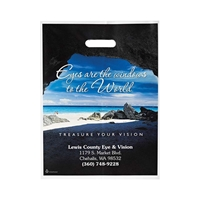 "Large Full Color Die Cut Bag - 12"" W x 16"" H"