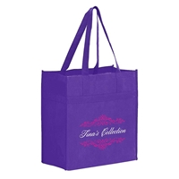 """Picture of Heavy Duty Non-Woven Grocery Tote - 13"""" W x 14"""" H x 7"""" D"""