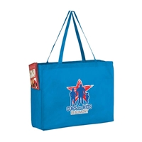 "Picture of Full Color Over the Shoulder Non-Woven Tote - 16"" W x 12"" H x 6"" D"