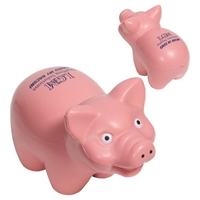 Picture of Custom Printed Pig Stress Ball