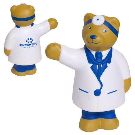 Picture of Custom Printed Doctor Bear Stress Ball