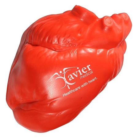 Custom Printed Heart No Veins Stress Ball