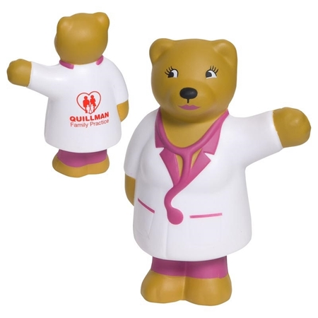 Picture of Custom Printed Nurse Bear Stress Ball