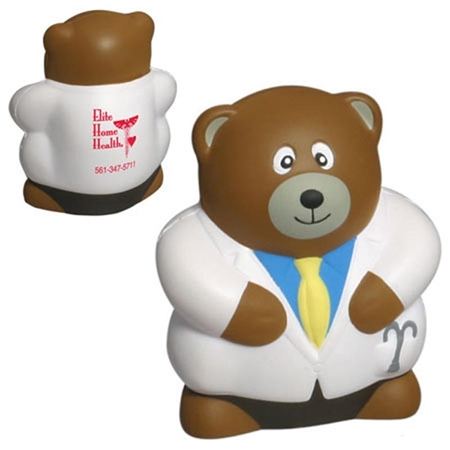 Picture of Custom Printed Physician Bear Stress Ball