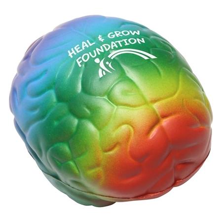 Picture of Custom Printed Rainbow Brain Stress Ball