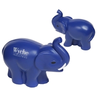 Picture of Custom Printed Elephant With Tusks Stress Ball
