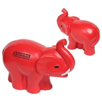 Red Elephant Stress Ball With Logo