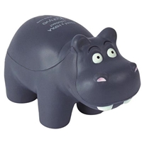 Picture of Custom Printed Hippo Stress Ball