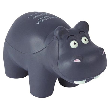 Custom Printed Hippo Stress Ball