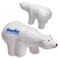 Picture of Custom Printed Polar Bear Stress Ball