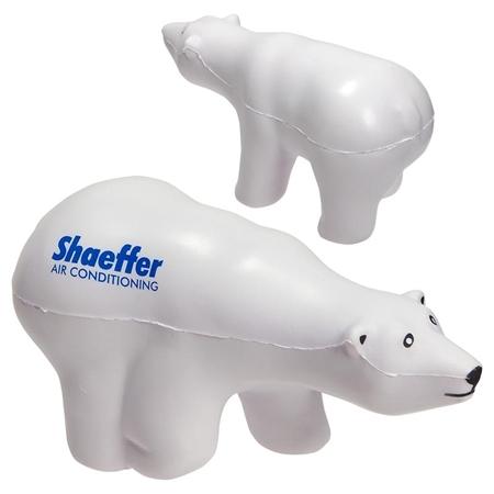 Custom Printed Polar Bear Stress Ball