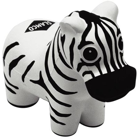 Picture of Custom Printed Zebra Stress Ball