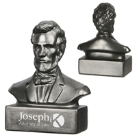 Picture of Custom Printed Abraham Lincoln Bust Stress Ball