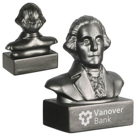 Picture of Custom Printed George Washington Bust Stress Ball