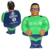 Picture of Custom Printed African American Super Hero Stress Ball