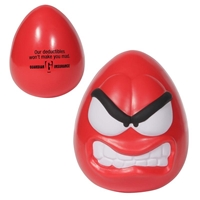 Picture of Custom Printed Mood Maniac Wobbler-Angry Stress Ball