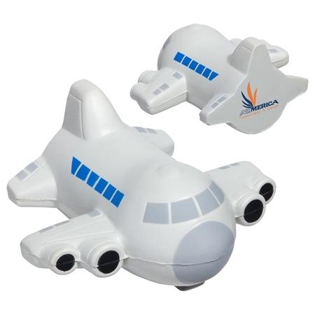Custom Printed Small Airplane Stress Ball