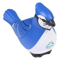 Branded Custom Blue Jay Stress Ball