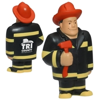 Picture of Custom Printed Fireman Stress Ball