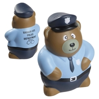 Custom Printed Police Bear Stress Ball
