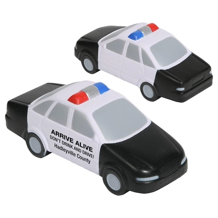 Picture of Custom Printed Police Car Stress Ball