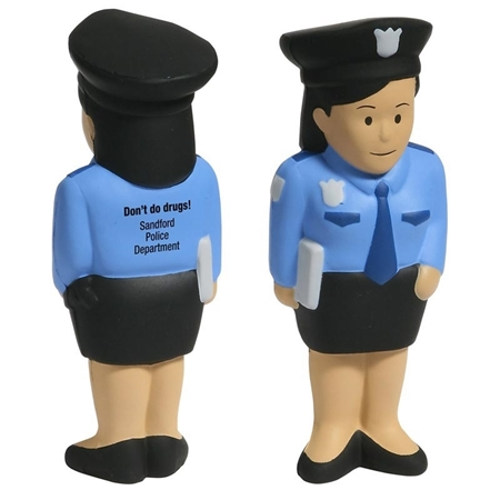 Picture of Custom Printed Police Woman Stress Ball