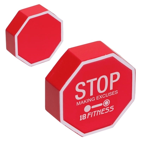 Picture of Custom Printed Stop Sign Stress Ball