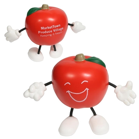 Promo Apple Figure Stress Ball