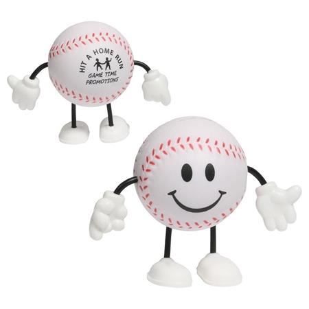 Branded Custom Baseball Figure Stress Ball