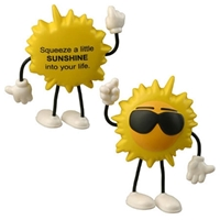 Picture of Custom Printed Cool Sun Figure Stress Ball